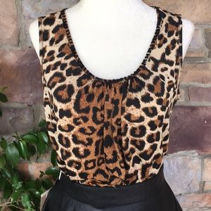 Chicos: animal Print Sleeves Blouse Size 0